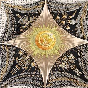Authentic Louis Vuitton silk scarf